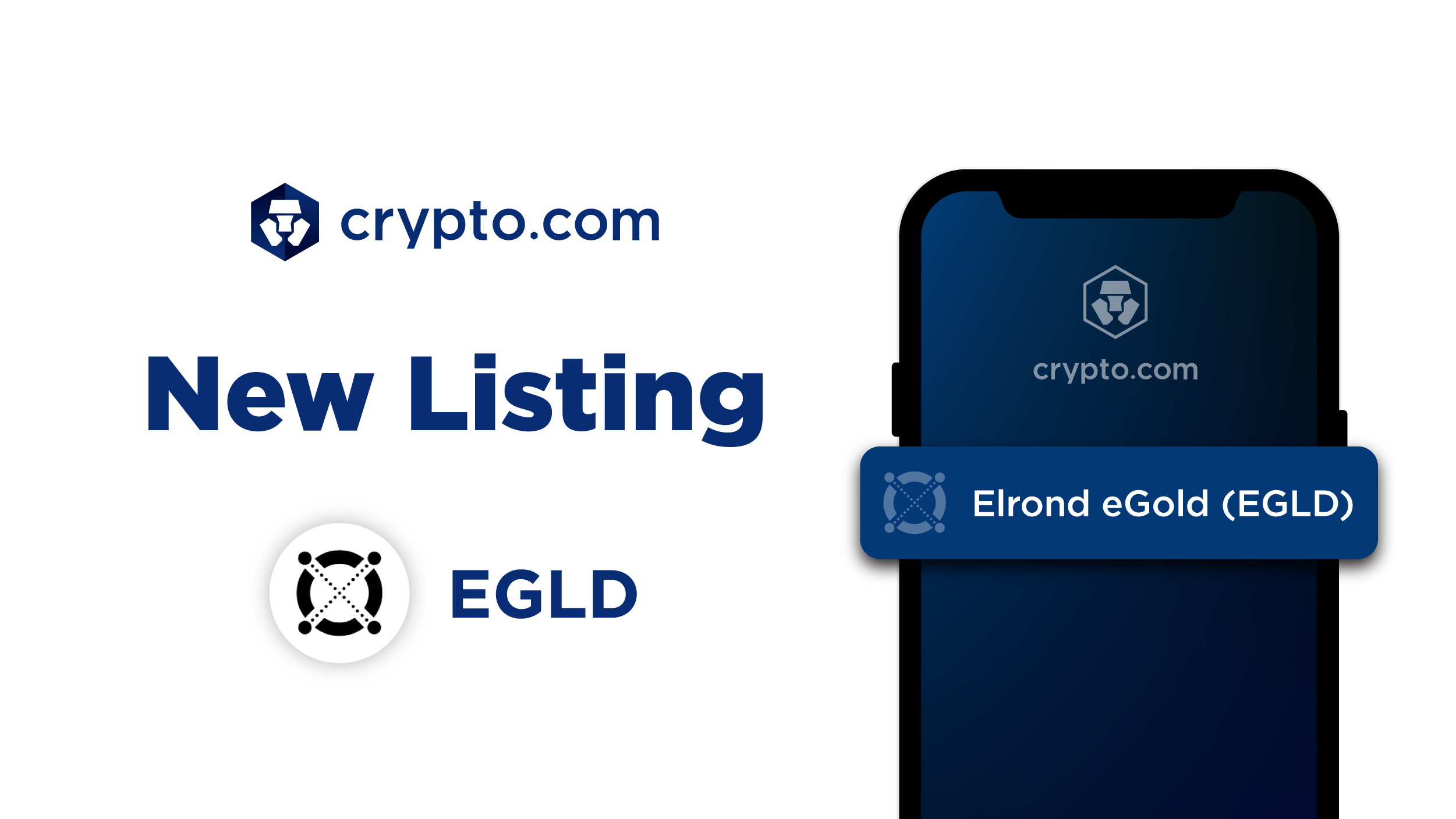 Crypto.com Lists <bold>Elrond</bold> eGold (EGLD)